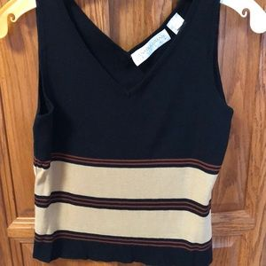 Dana Buchman v neck striped tank top